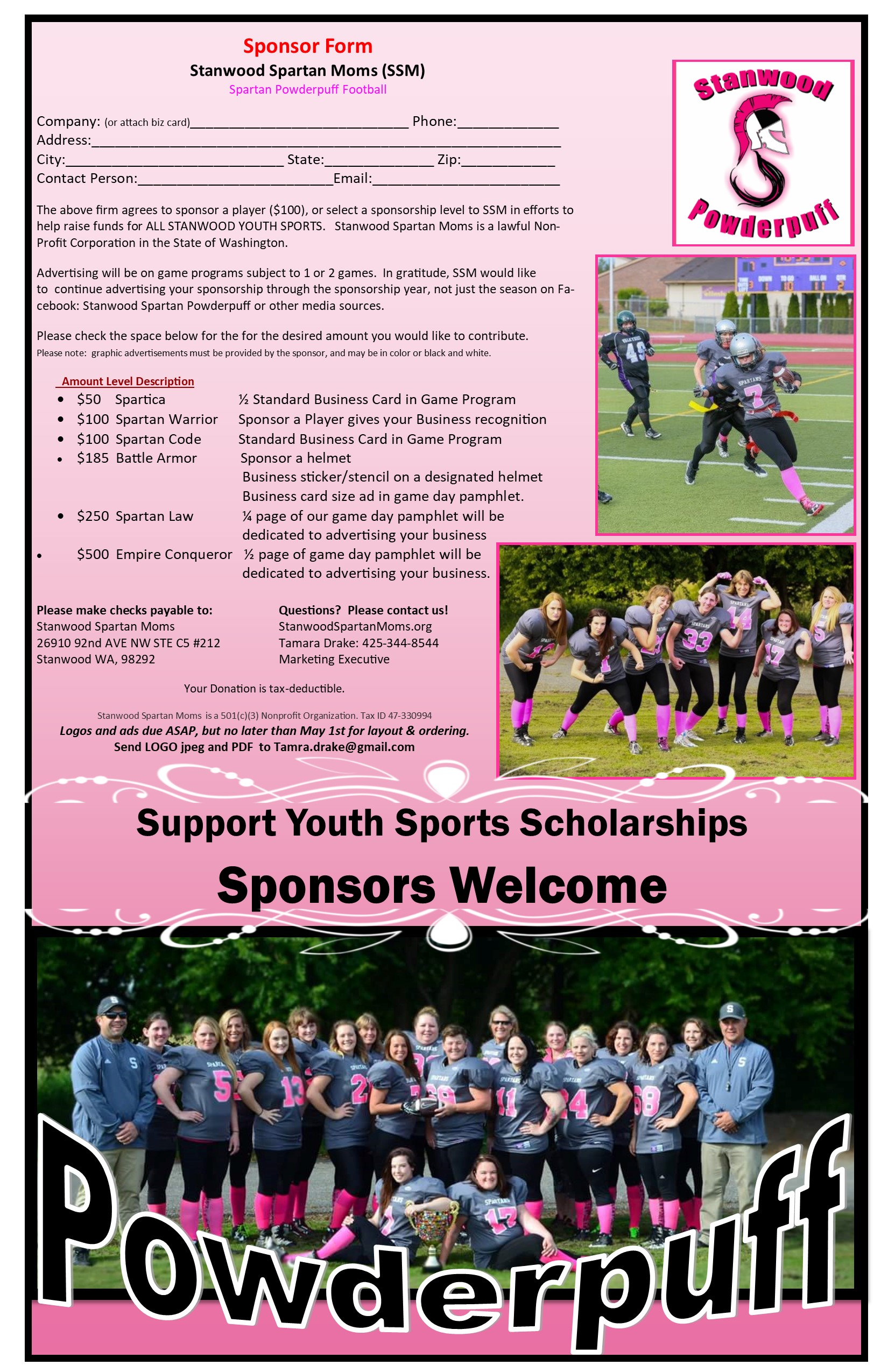 Powderpuff Flyer & Sponsor flyer 2019 photo